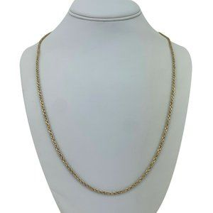 Jewelry - 14k Gold 8.6g Solid Diamond Cut Rope Necklace 24""